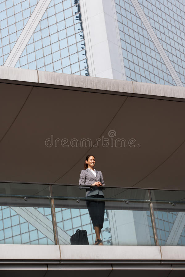 Download Portrait Of Hispanic Businesswoman Outside Office Stock Image - Image of smiling, urban: 26097035