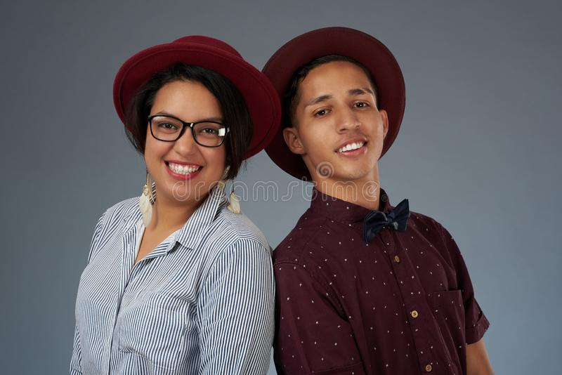 Portrait of hispanic young couple royalty free stock photos