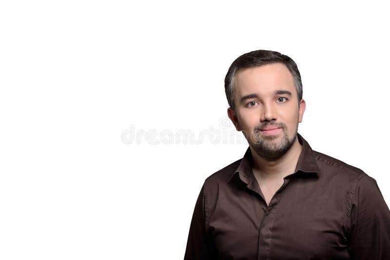 Portrait horizontal de gentil homme - photo courante image stock