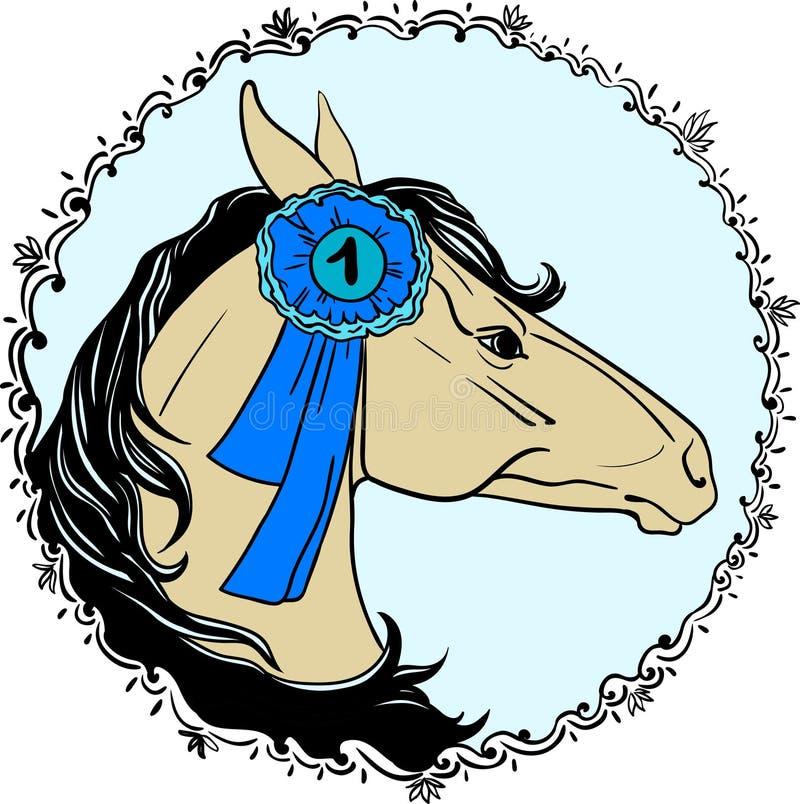 Portrait a horse royalty free illustration