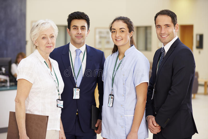 Portrait Of Hospital Medical Team stock photo