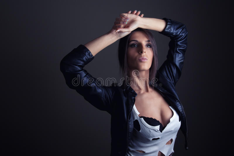 Portrait of hot girl royalty free stock images