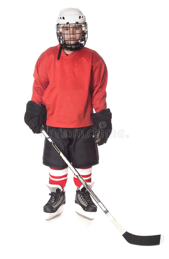 Download Portrait Of Ice Hockey Player Stock Image - Image: 27095537