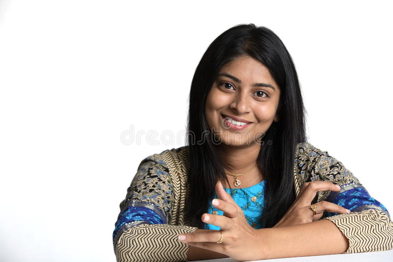 Download Portrait of Indian woman stock image. Image of pleasantly - 10479827
