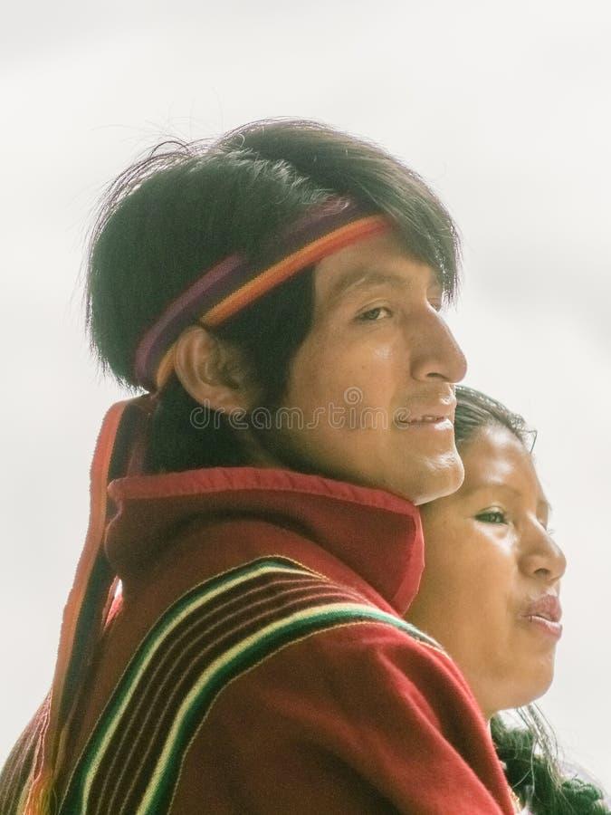 Portrait indigène équatorien de couples photo libre de droits