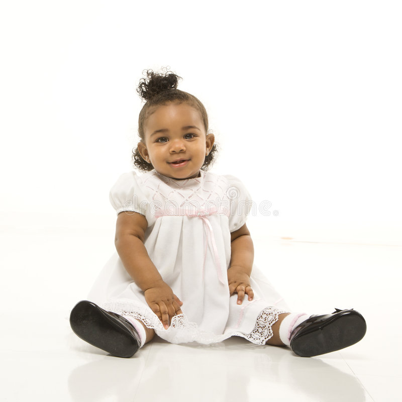 Portrait of infant girl. royalty free stock photos
