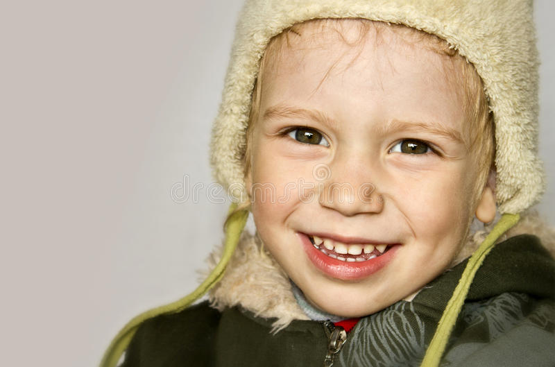 Portrait Of Infant Smiling Boy Stock Photos