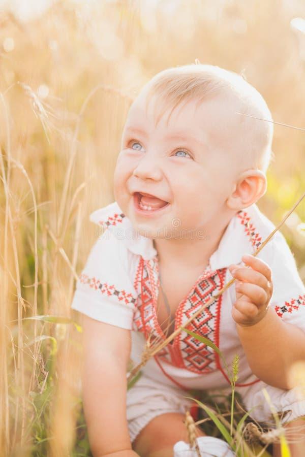 Portrait infantile de bébé de bébé de 9 mois photographie stock
