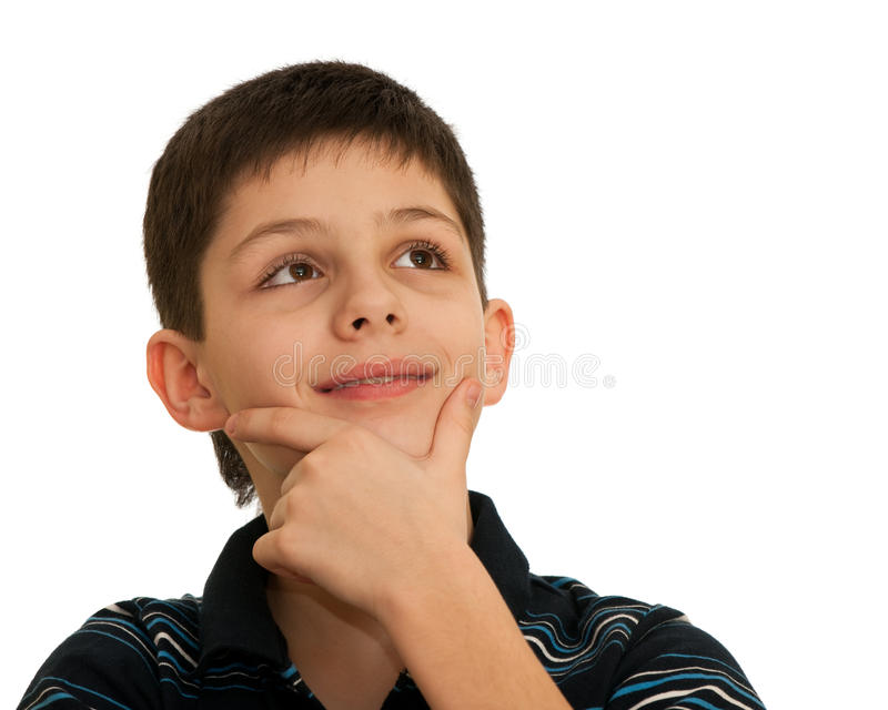 Download Portrait Of An Inspired Thoughtful Boy Stock Image - Image: 13518285