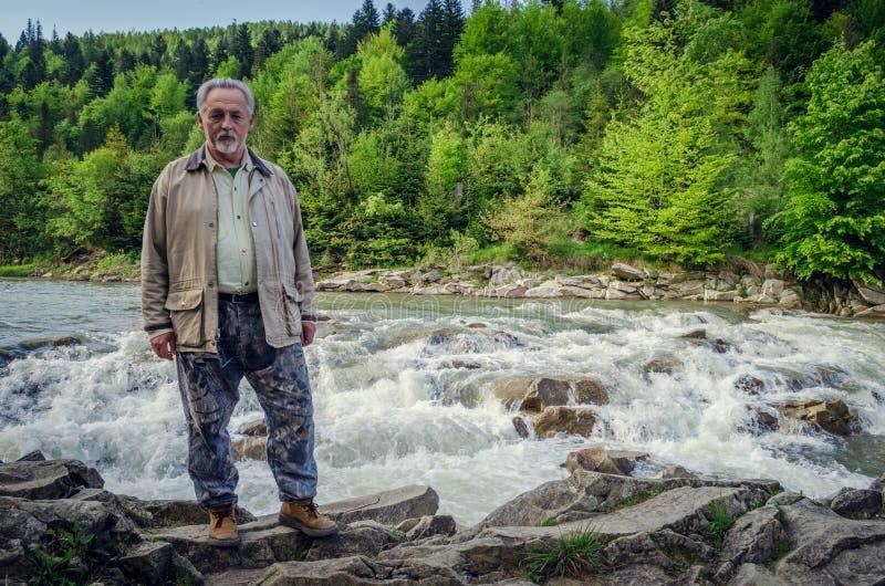 Portrait intégral d'un homme supérieur photos libres de droits