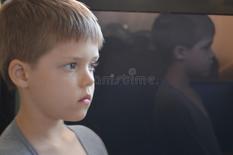 Download Reflection of boy 2 stock image. Image of large, interesting - 100870951