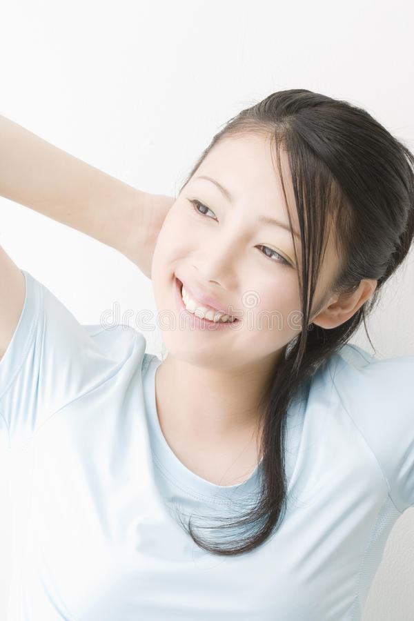 Portrait of Japanese woman stock photo