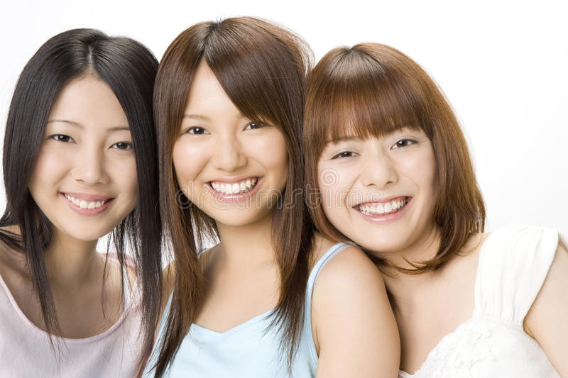 Portrait of Japanese women royalty free stock photos