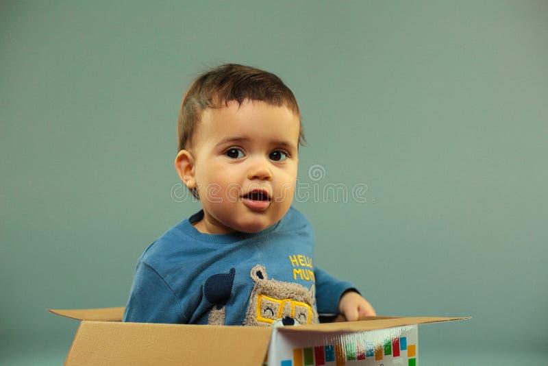 Portrait of joyous toddler stock photos