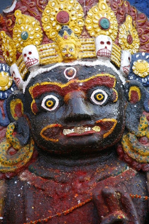 Portrait of kali in kathmandu, royalty free stock photos