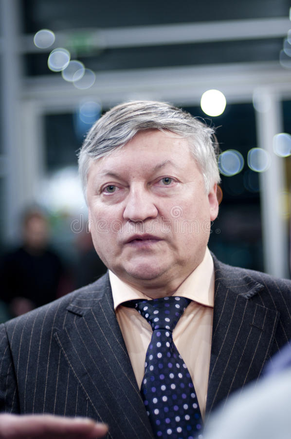 Portrait of Karpov stock photos