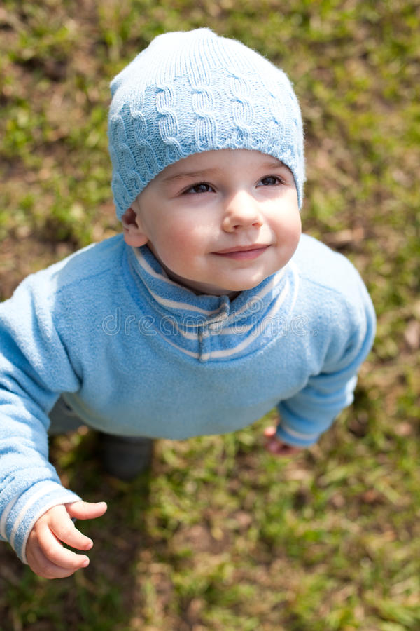 Download Portrait of a kid in blue stock photo. Image of child - 13821296