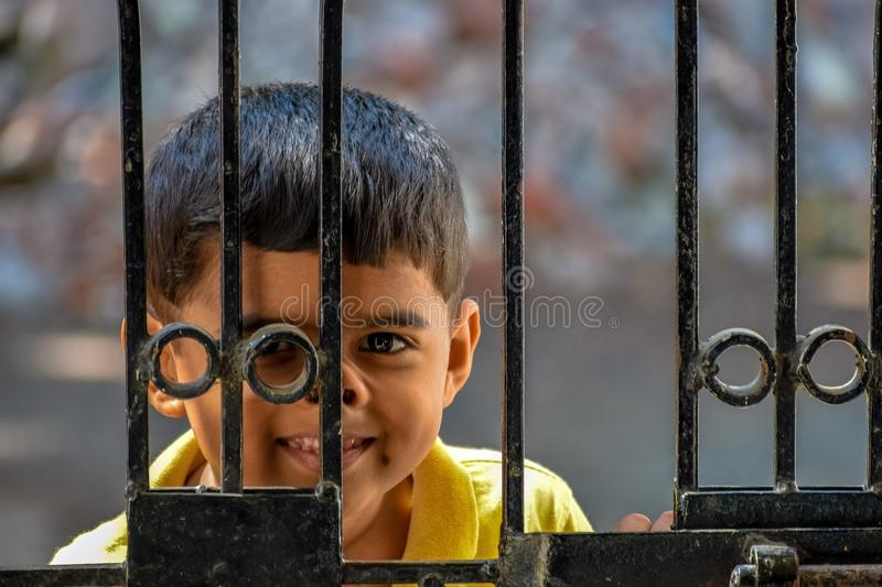 Portrait of Kid stock image