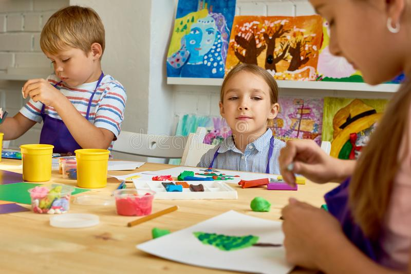Group of Children in Development School royalty free stock photography