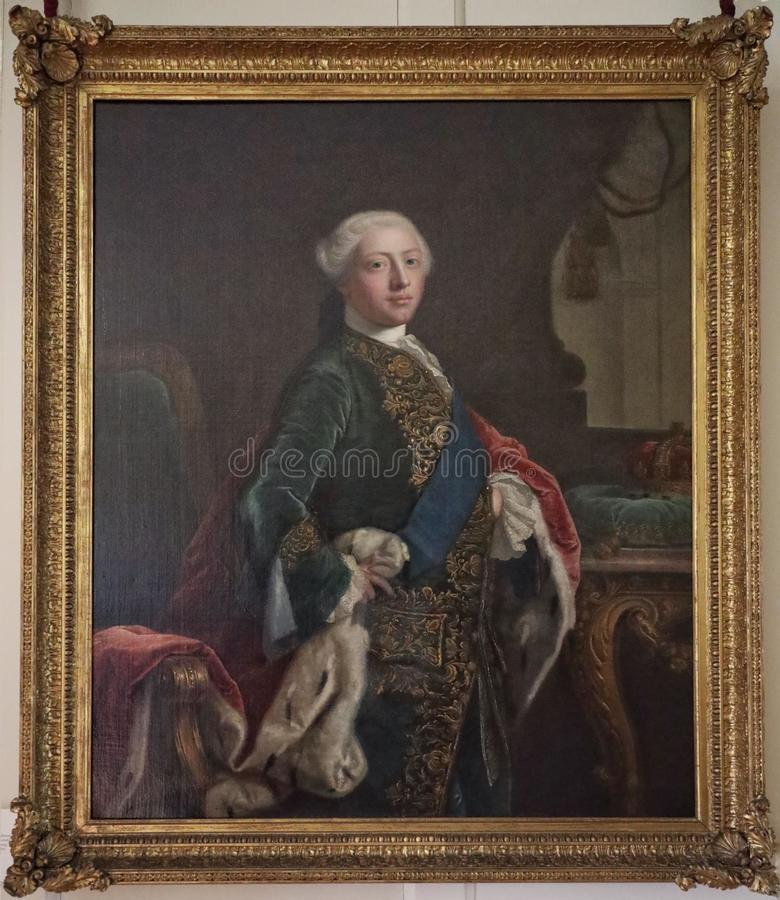 Portrait of King George III when Prince of Wales. By Joshua Reynolds royalty free stock photo