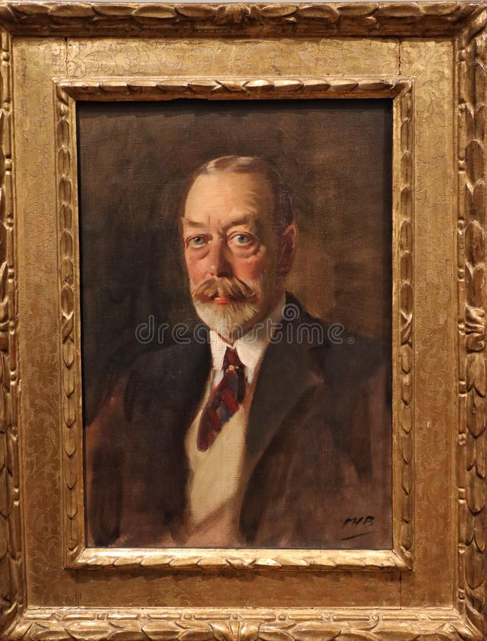 Portrait of King George V royalty free stock photos