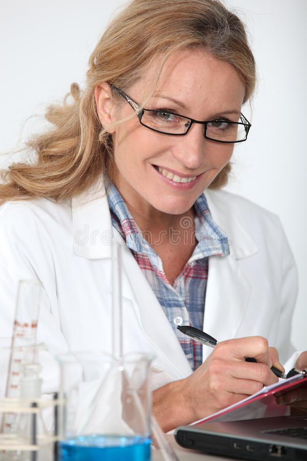Portrait of a lab assistant royalty free stock photography