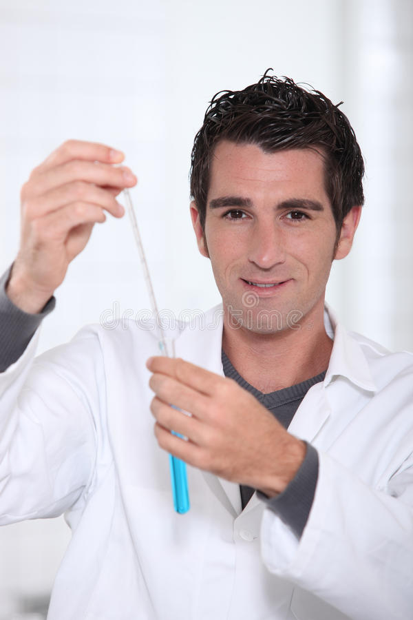 Portrait of a lab assistant royalty free stock image