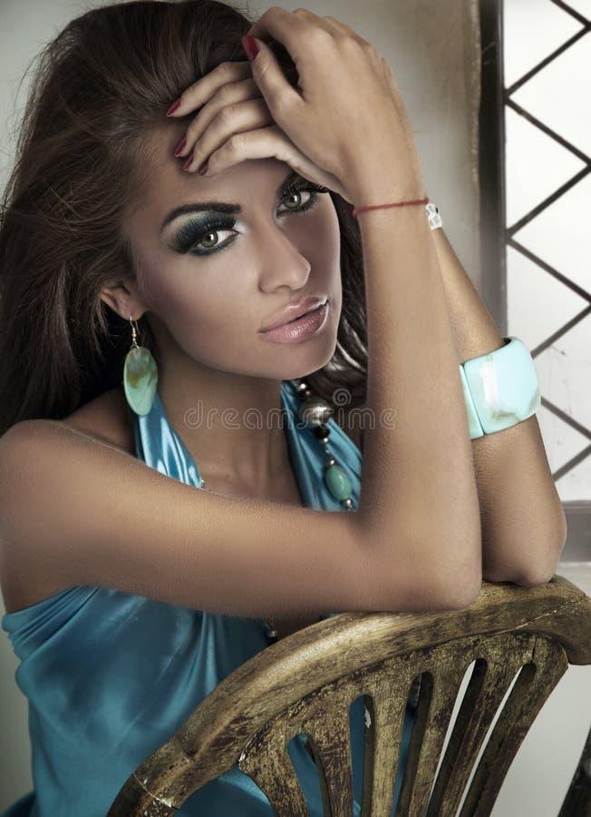 Portrait of lady royalty free stock photo