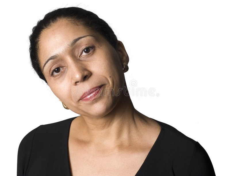 Portrait of Latino woman stock image