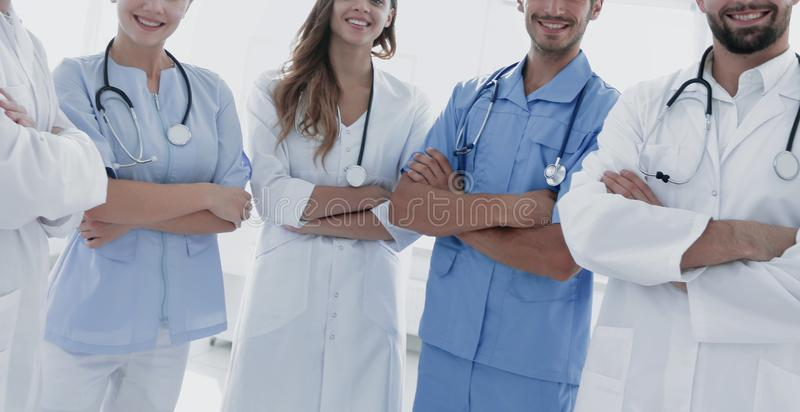 Portrait of the leading members of the medical center stock images
