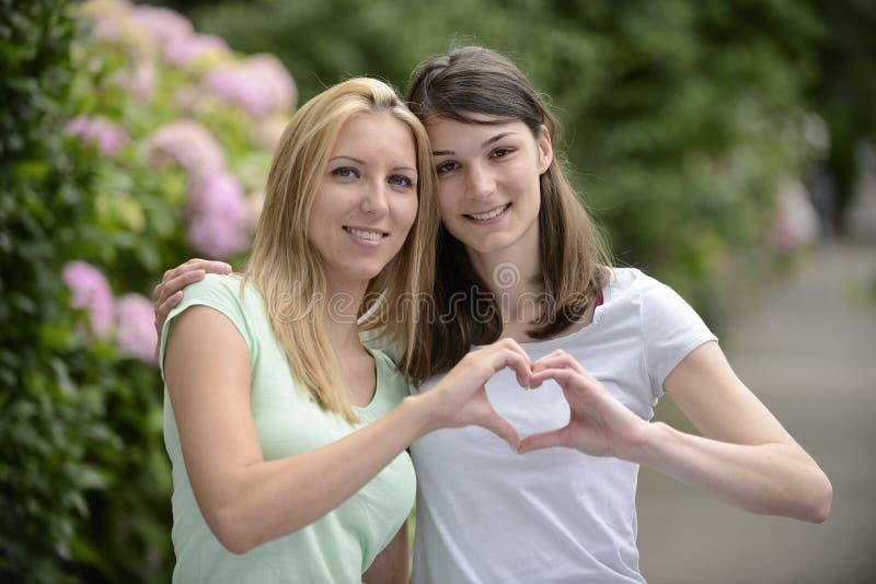 Portrait of a lesbian couple stock image