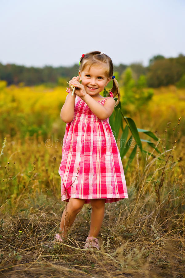 Portrait of a liitle girl royalty free stock photography