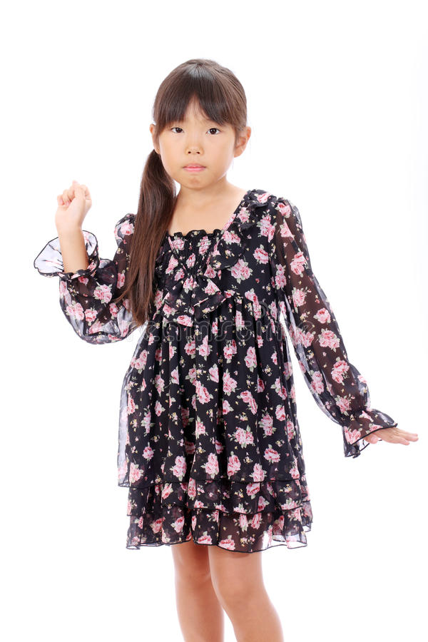 Portrait Of Little Asian Girl Royalty Free Stock Photos