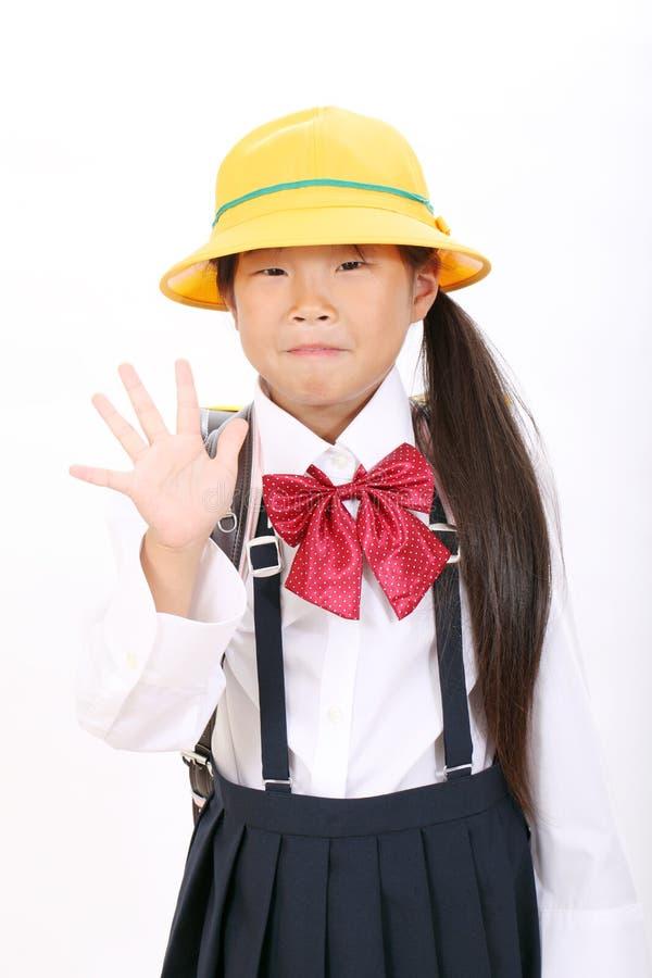 Download Portrait Of Little Asian Schoolgirl Stock Image - Image: 27688865
