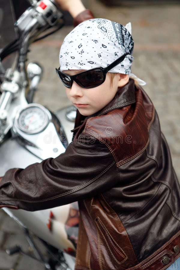 Download Portrait a little biker stock image. Image of mukachevo - 19510299