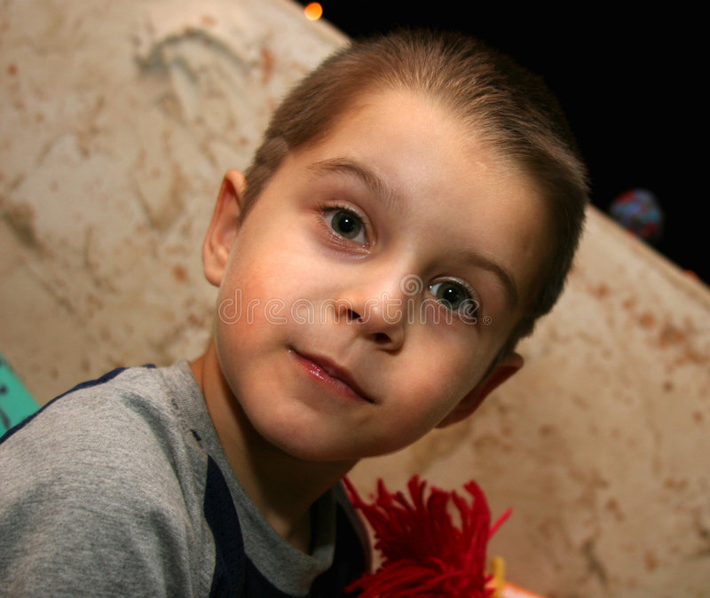 Download Portrait of the little boy stock photo. Image of grin - 1238564