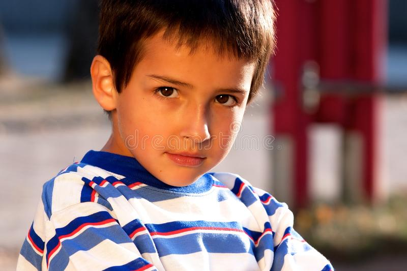 Portrait of little boy royalty free stock photo