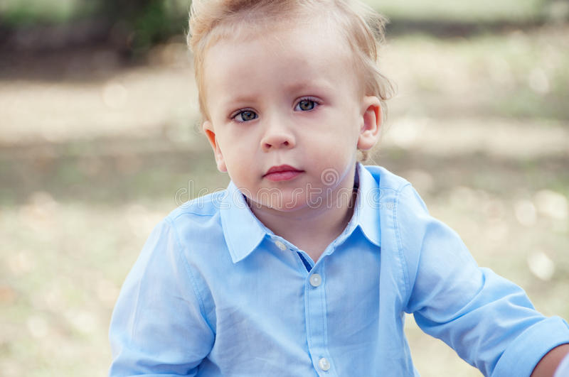 Portrait of the little boy close-up. royalty free stock images