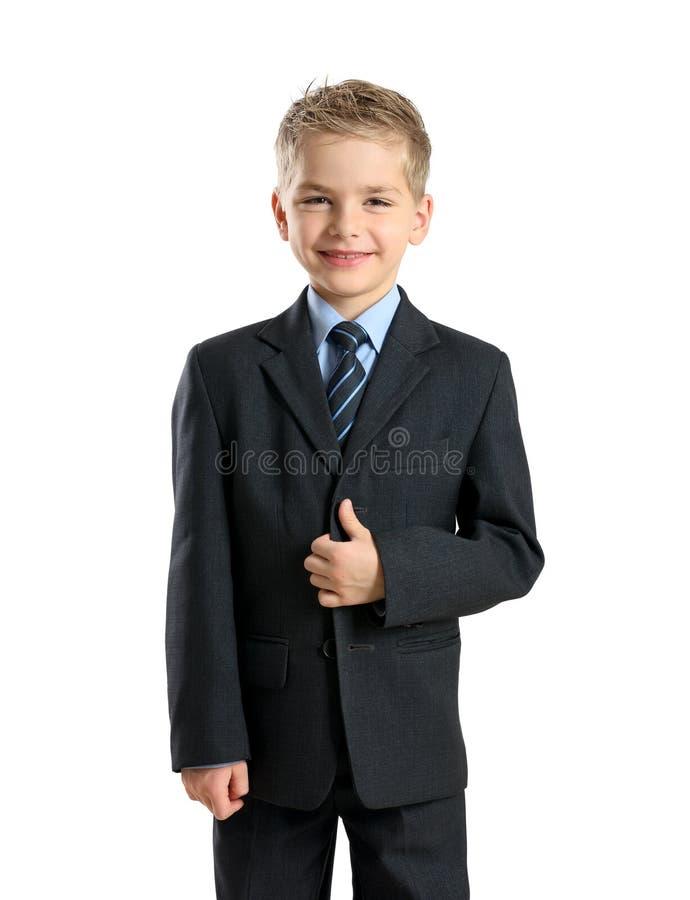 Portrait of little businessman stock photo
