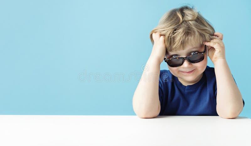 Portrait of a little cute man stock photo