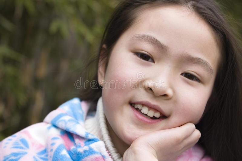 Portrait of little girl stock photo