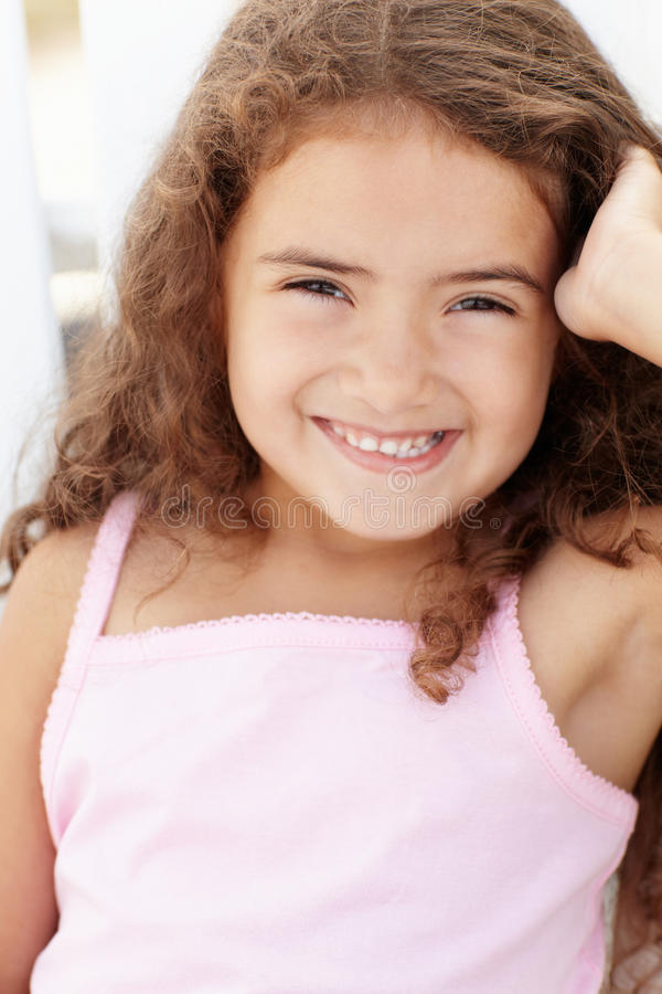Download Portrait of little girl stock image. Image of smiling - 21027275