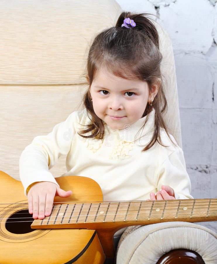 Portrait of the little girl royalty free stock images