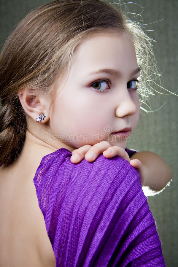 Download Portrait of a little girl stock image. Image of attractive - 25160773