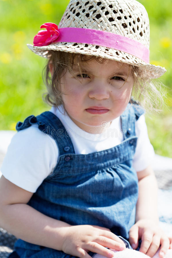 Portrait of the little girl stock photography