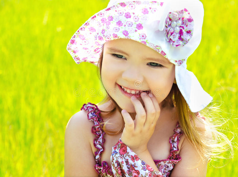 Download Portrait of little girl stock photo. Image of summer - 25432050