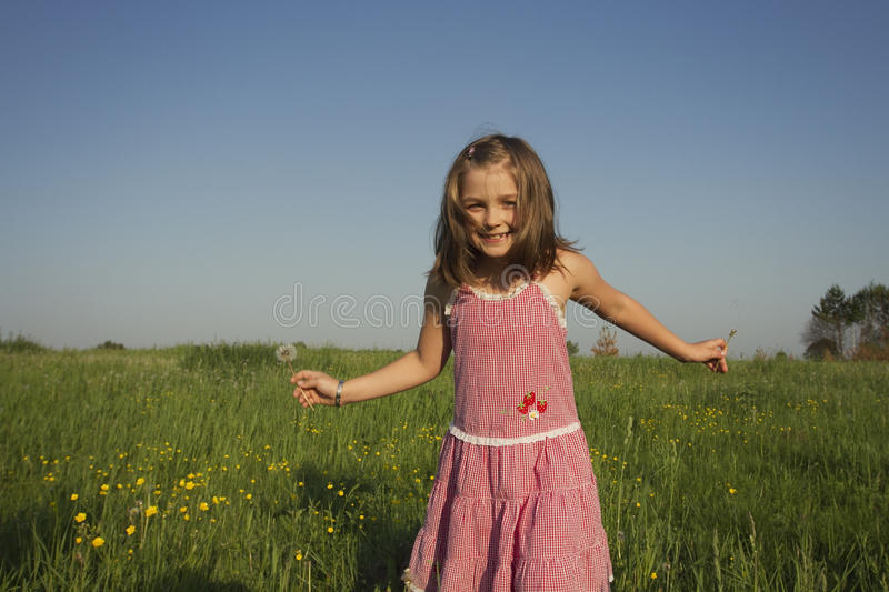 Portrait of little girl royalty free stock photography