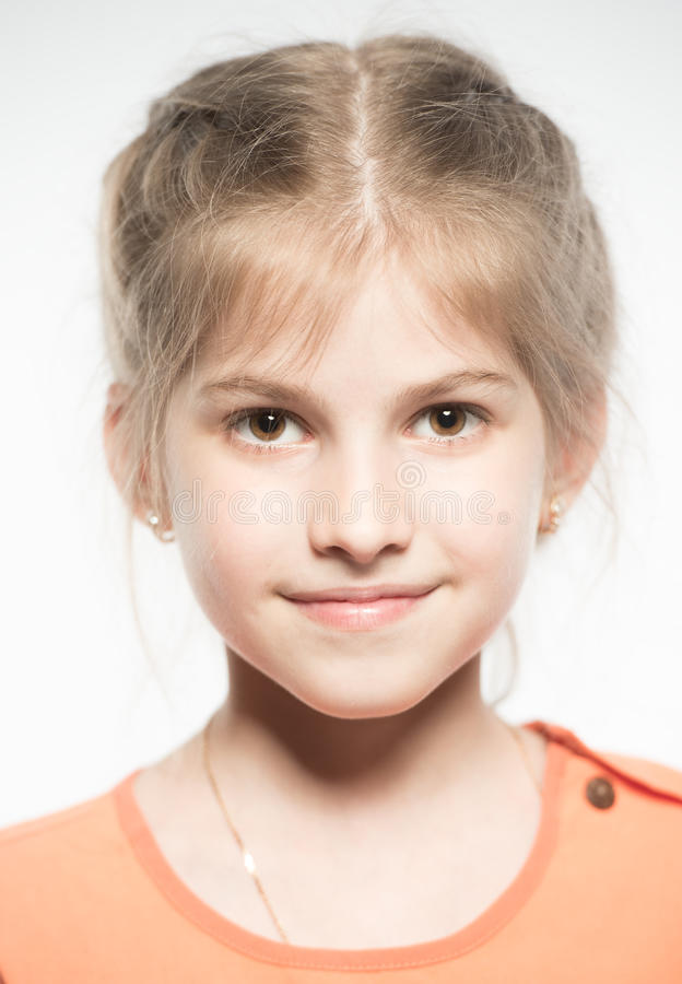 Download Portrait of a little girl stock image. Image of beautiful - 26011101
