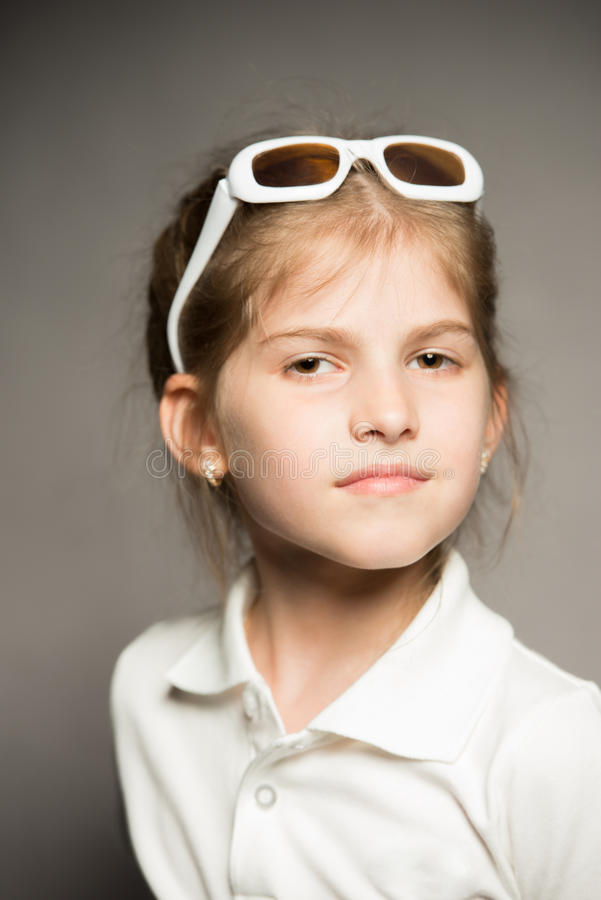 Download Portrait of a little girl stock image. Image of gray - 26011143