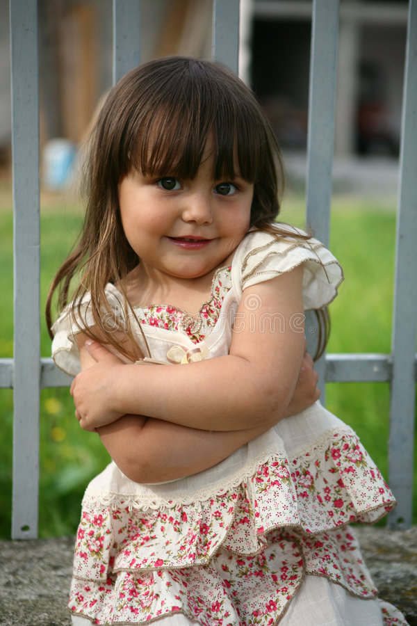 Download Portrait of a little girl stock image. Image of posing - 5242155